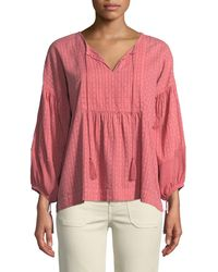 The Great - Panelled Tunic Peasant Top - Lyst