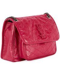 Saint Laurent - Niki Medium Monogram Ysl Shiny Waxy Quilted Shoulder Bag - Lyst