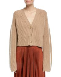 Elizabeth and James - Cabot Button-front Bell-sleeve Cashmere Cardigan - Lyst