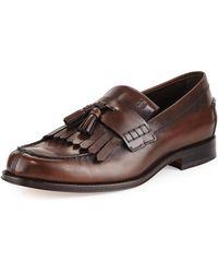 Tod's - Kiltie Leather Tassel Loafer - Lyst