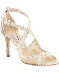 Jimmy Choo - Emily Lace 85mm Sandals - Lyst