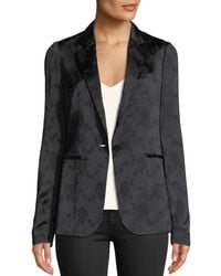 Theory - Grinson One-button Floral-jacquard Viscose Blazer - Lyst