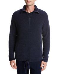 Vince - Terry Half-zip Mock-neck Pullover - Lyst