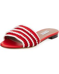 Tabitha Simmons - Sprinkles Pleated Grosgrain Slide Sandal - Lyst