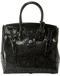 Ralph Lauren - Ricky 33 Laser-tooled Soft Top Handle Bag - Lyst