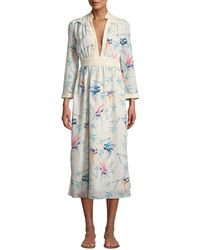 295814b0 Alexis Anabella Ruched Lace Midi Dress in White - Lyst