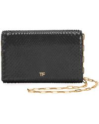 Tom Ford - Python Flap Wallet On A Chain - Lyst