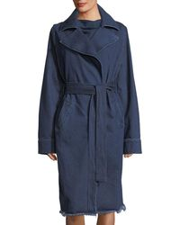 Marques'Almeida | Belted Denim Trenchcoat | Lyst
