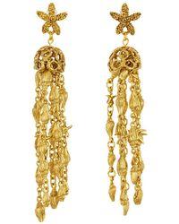 Oscar de la Renta - Starfish Shell Tassel Drop Earrings - Lyst