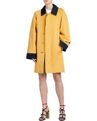 Burberry | Waxed Cotton Gabardine Coat | Lyst