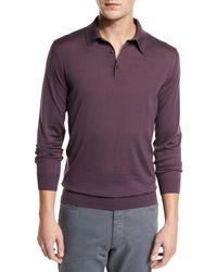 Ermenegildo Zegna - Merino Wool Polo Sweater - Lyst
