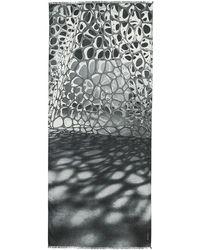 Akris - Nano-embroidered Cashmere-silk Scarf - Lyst