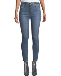 Alice + Olivia - Good High-rise Cropped Skinny Jeans - Lyst