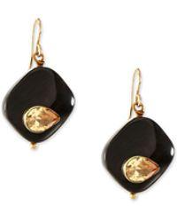 Ashley Pittman | Sanamu Dark Horn Mini Drop Earrings | Lyst