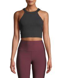 Alo Yoga - Unite Cropped Activewear Tank Bra - Lyst