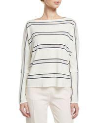 Loro Piana - Boat-neck Large-stripe Cashmere-silk Sweater - Lyst