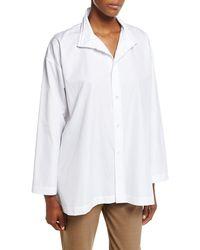 Eskandar - Slim A-line Layered-collar Blouse - Lyst