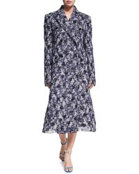CALVIN KLEIN 205W39NYC - Floral-plaid Double-breasted Coat - Lyst