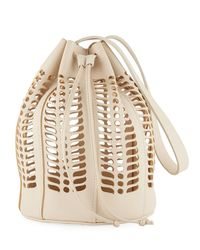 Modern Weaving - Leather Jute Die-cut Bucket Bag - Lyst