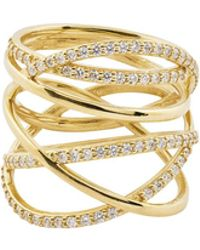 Lana Jewelry - Flawless Bond Ring With Diamonds - Lyst