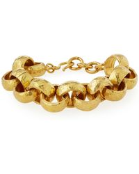 Ashley Pittman - Usawa Hammered Bronze Bracelet - Lyst