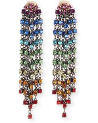 Oscar de la Renta - Swarovski Crystal Cascade Waterfall Clip-on Earrings - Lyst