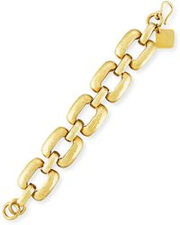 Ashley Pittman - Bila Hammered Bronze Square-link Bracelet - Lyst