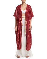 Miguelina - Adria Tasseled Kimono Coverup - Lyst