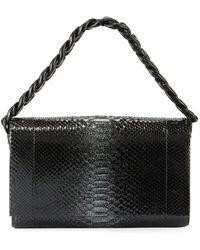 Nancy Gonzalez - Carrie Convertible Chain-trim Metallic Python Flap Bag - Lyst