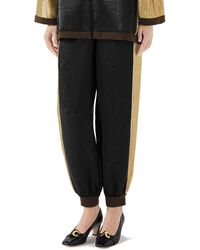 f914c8c5cc2 Lyst - Gucci GG-jacquard Mid-rise Jersey Trousers in Brown