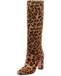 Aquazzura - Brera Leopard-print Calf Hair Boot - Lyst
