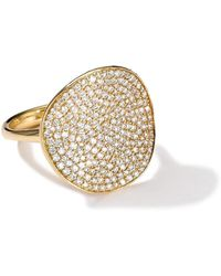 Ippolita - Stardust 18k Gold Floral Ring With Diamonds - Lyst