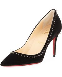 453c0829519 Christian Louboutin Spikoo Spiked Ankle-wrap Red Sole Pumps in ...