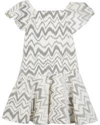 Zoe - Kenzie Flocked Knit Zigzag Dress - Lyst