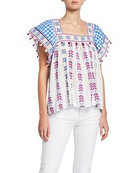 Dodo Bar Or - Teresa Embroidered Square-neck Top - Lyst