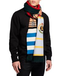 Burberry - Men's Football Crest-applique Scarf - Lyst