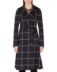 Akris Punto - Belted Grid-jacquard Trench Coat - Lyst