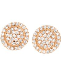 Jamie Wolf - 18k Diamond Pave Round Stud Earrings - Lyst
