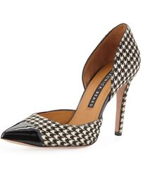 Veronica Beard - Lyssa High-heel Houndstooth D'orsay Pumps - Lyst