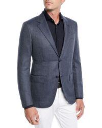 Ermenegildo Zegna - Men's Tic Wool-silk Jacket - Lyst