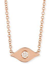 EF Collection - 14k Diamond Evil Eye Pendant Necklace - Lyst