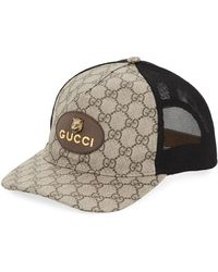 d73d5bfa Gucci Wool Hat With Embroidered Tiger Head in Black for Men - Lyst
