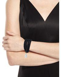 Grazia And Marica Vozza | Silk Wrap Bracelet With Baroque Pearl | Lyst