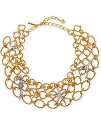 Oscar de la Renta - Fishnet Starfish Necklace - Lyst