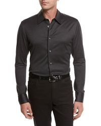 Brioni | Jersey Cotton Shirt | Lyst