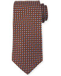 Kiton - Woven Square Silk Tie - Lyst