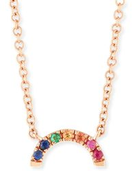 EF Collection - 14k Rainbow Pendant Necklace - Lyst