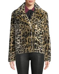 FRAME - Faux-fur Cheetah-print Jacket - Lyst