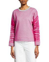 Viktor & Rolf - Cotton Sweater With Tulle Overlay - Lyst