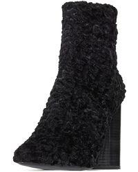 MERCEDES CASTILLO - Edie Ruched Velvet Block-heel Boot - Lyst